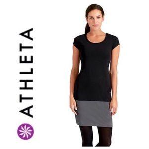 ❤️Athleta Ella Dress black and smoke gray medium